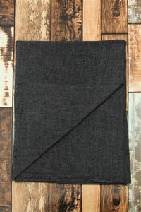 Plain Shaded Colour Pure Cashmere Scarf - Charcoal - Fashion Scarf World