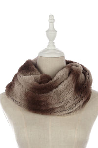 Herringbone Cut Faux Fur Snood