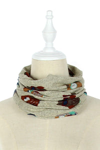 Kid's Cute Owl Pattern Snood - Fashion Scarf World