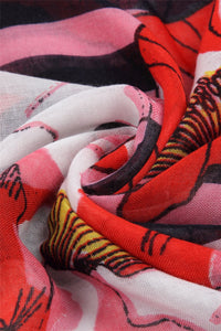 Poppy & Stripe Printed Scarf - Fashion Scarf World