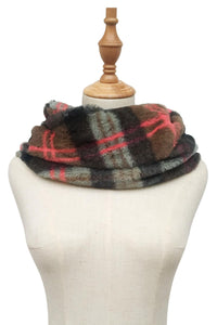 Colourful Tartan Soft Snood - Fashion Scarf World