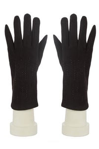 Diamonte In Line Gloves - Fashion Scarf World