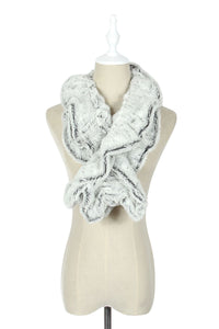 Wide Ruffle Two Tone Pull Through - Fashion Scarf World