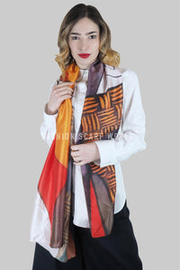 Picasso Portrait Style Print Scarf - Fashion Scarf World