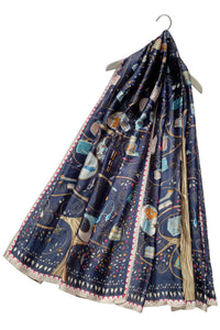 Stylish Handbag Print Silk Scarf - Fashion Scarf World