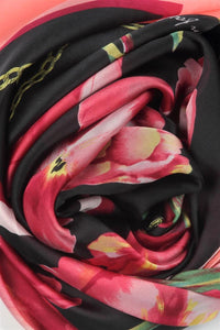 Blossom Tulip Print Silk Scarf - Fashion Scarf World