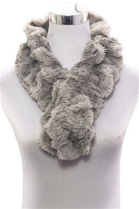Plain Faux Fur Scarf (Slim) - Fashion Scarf World