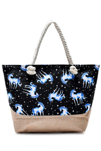 Magical Unicorn Print Beach Bag - Fashion Scarf World