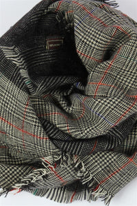 Mini Check & Hounds Tooth Scarf - Fashion Scarf World