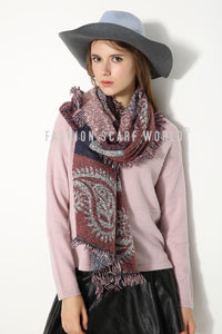 Large Paisley Print Blanket Wrap - Fashion Scarf World