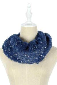 Starry Night Foiled Soft Twist Snood - Fashion Scarf World