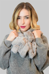 Plain Faux Fur Scarf (Wide) - Fashion Scarf World