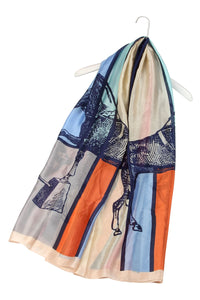 Equestrian Horse Print Silk Scarf - Fashion Scarf World
