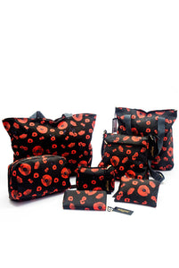 Poppy Print Bag Collection - Cosmetics - Fashion Scarf World