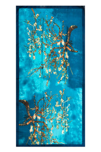 Van Gogh Almond Blossom Print Silk Scarf - Fashion Scarf World