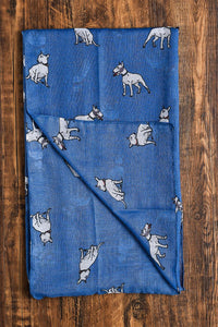 English Bull Terrier Dog Print Scarf - Fashion Scarf World