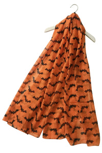 Halloween Bat Print Scarf - Fashion Scarf World