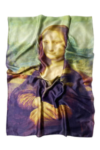 Leonardo Da Vinci Mona Lisa Print Silk Scarf - Fashion Scarf World