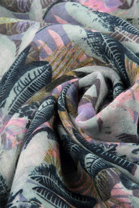 Jungle Leaf Print Scarf - Fashion Scarf World