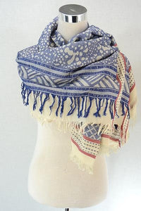 Arabic Style Splatter Print Cotton Square Scarf - Fashion Scarf World