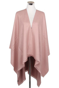 Plain Colour Poncho Wrap - Fashion Scarf World