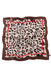 Wild Leopard Silk Square Scarf - Fashion Scarf World