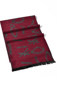 Reversible Chain Print Unisex Scarf - Fashion Scarf World