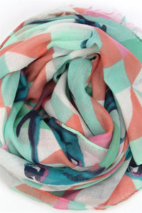 Parrot & Triangle Print Scarf - Fashion Scarf World