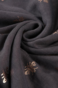 Rose Gold Bee Print Scarf - Fashion Scarf World