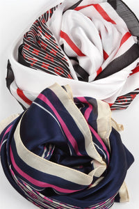 Crosshatched Handbag Print Silk Scarf - Fashion Scarf World