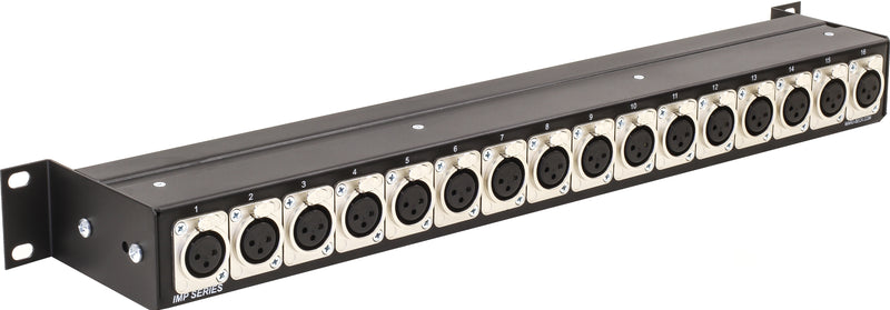 IMP-16F Impedance Transformer XLR to BNC rackmount panel