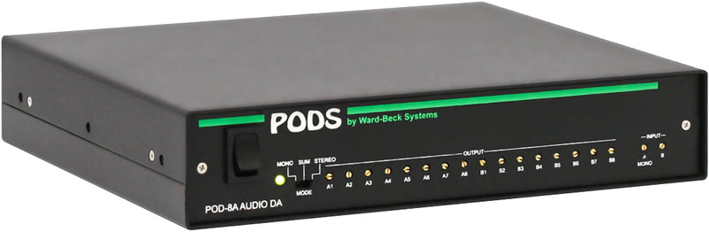 POD8A Analog Audio Distribution Amp with Level Trim Input Summing
