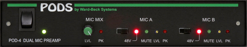 POD4 Mic Preamp with Mute Switched Out Summing