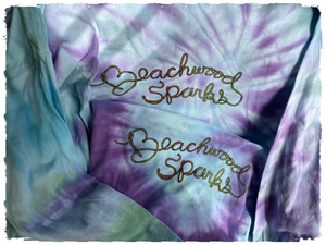 Beachwood Sparks - Neon Lasso Logo 20th Anniversary Long-sleeve Tie Dye - Curation Records