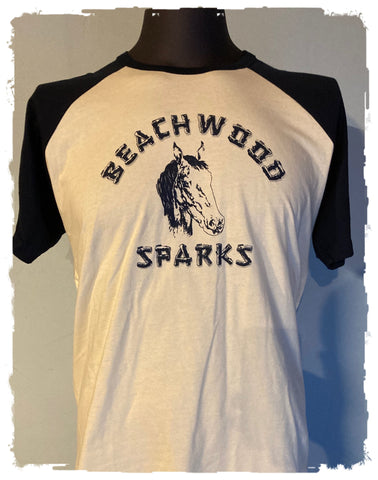 Beachwood Sparks Repro Horsey Raglan Tee - Curation Records (4908275826770)