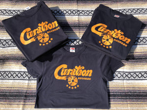 Curation Script Logo Tee - Navy Shirt - Curation Records (4371099910226)