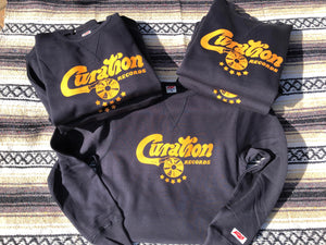 Curation Records Script Logo - Sweatshirt - Curation Records (4365073678418)