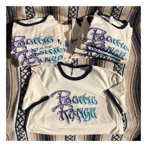 "Pacific Range ""Pacific Vibes"" Ringer Tee - Curation Records (4324056203346)"