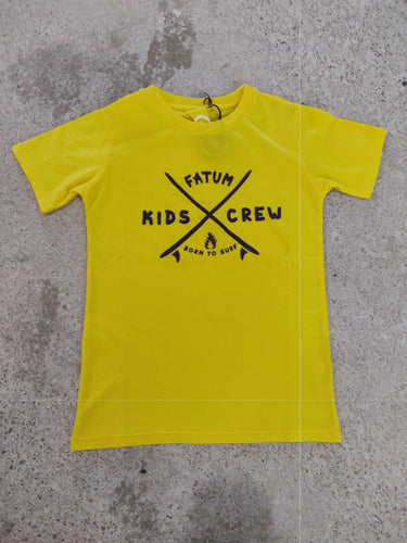 fatum kids grom tee yellow