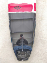 "Load image into Gallery viewer, Fatum Majestic 9'2"" - Black/Red Stripe Triple Stringer"