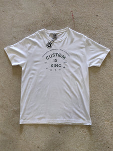 custom is king tee white