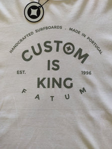 Fatum Custom is King T-shirt White