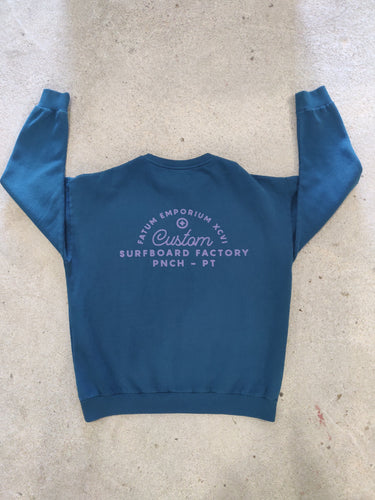 Fatum Ladies Emporium Sweatshirt in Deep Blue