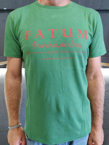 "2020 Fatum Fishing in Green.  Model is wearing an L and is 186cm tall at 85kg. (6'1"" and 14 st)"