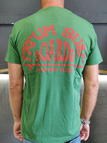 2020 Fatum Western Tee in Green.  Model is wearing an L and is 186cm tall at 85kg. (6'1