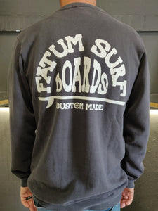 "2020 Fatum Western Sweatshirt in Navy.  Model is wearing an L and is 186cm tall at 85kg. (6'1"" and 14 st)"