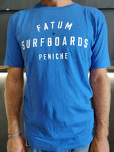Load image into Gallery viewer, Fatum Stamp Tee in Blue.