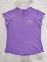 Load image into Gallery viewer, fatum ladies out loud tee purple