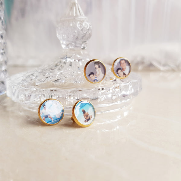 PHOTO EARRINGS (2 PAIRS)