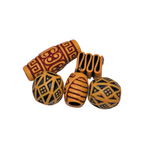 Love Wooden Beads Loc Jewelry Set